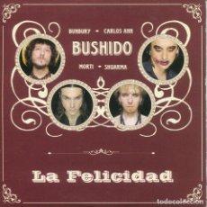 CDs de Música: BUSHIDO (BUNBURY) / LA FELICIDAD (CD SINGLE CARTON PROMO 2004). Lote 152319126