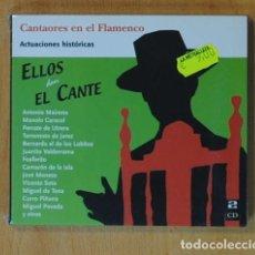 CDs de Música: VARIOS - ELLOS DAN EL CANTE - 2 CD. Lote 152357992