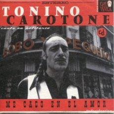 CDs de Música: TONINO CAROTONE / ME CAGO EN EL AMOR (3 VERSIONES) LA TRAMPA (CD SINGLE CARTON PROMO 1999). Lote 152394350