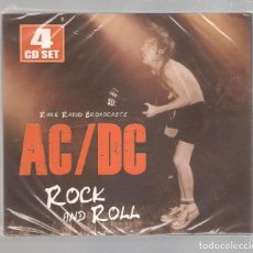 CDs de Música: AC/DC - ROCK AND ROLL (RARE RADIO BROADCASTS) (4CD SET DIGIPAK, LASER MEDIA LM 100) PRECINTADO. Lote 152452254