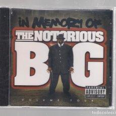 CDs de Música: IN MEMORY OF THE NOTORIOUS B.I.G. - VOLUME FOUR (CD 2008) PRECINTADO. Lote 152453598