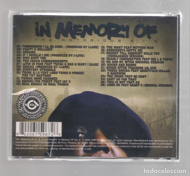 CDs de Música: In Memory of THE NOTORIOUS B.I.G. - Volume Four (CD 2008) PRECINTADO - Foto 2 - 152453598