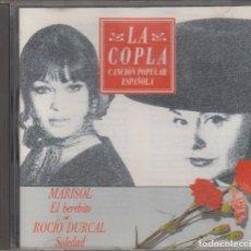CDs de Música: MARISOL ROCÍO DÚRCAL CD LA COPLA CANCIÓN POPULAR ESPAÑOLA 1992. Lote 152455282