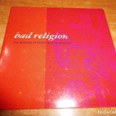 CDs de Música: BAD RELIGION THE PROCESS OF BELIEF : A SONIC PREVIEW CD MAXI SINGLE PROMO EP 2002 EU CARTON 5 TEMAS. Lote 152473602