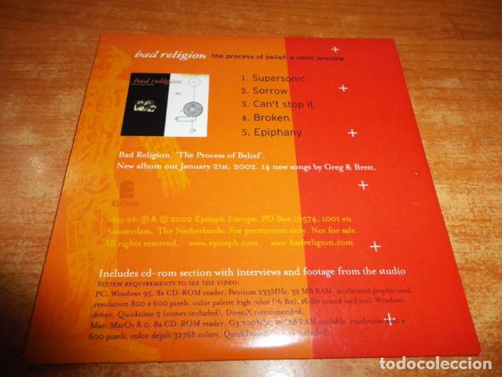 CDs de Música: BAD RELIGION The process of belief : A sonic preview CD MAXI SINGLE PROMO EP 2002 EU CARTON 5 TEMAS - Foto 2 - 152473602