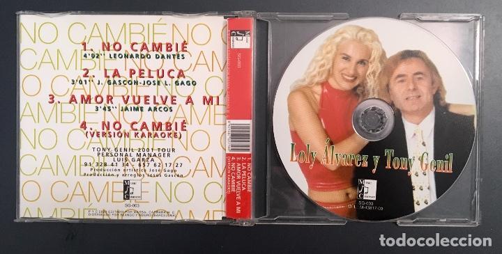 CDs de Música: Loly Álvarez y Tony Genil - No cambié - Foto 2 - 152618394