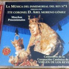 CDs de Música: LA MÚSICA DEL INMEMORIAL DEL REY Nº 1. MARCHAS PROCESIONALES - DIR: T.CORONEL ABEL MORENO GÓMEZ - CD. Lote 152750554
