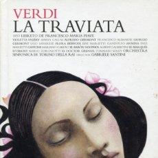 CDs de Música: CD.-LIBRO. VERDI. LA TRAVIATA. CALLAS,ALBANESE. GABRIELLE SANTINI. 2 CDS.. Lote 152803654