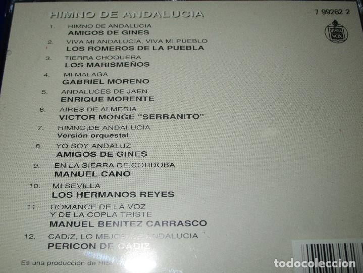 CDs de Música: HIMNO DE ANDALUCIA - CD - 7 99262 2 - HISPAVOX - AMIGOS DE GINES - ENRIQUE MORENTE ... - Foto 4 - 152805606