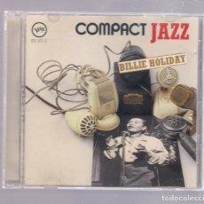 CDs de Música: BILLIE HOLIDAY - COMPACT JAZZ (CD 1987, VERVE 831 371-2). Lote 152940838