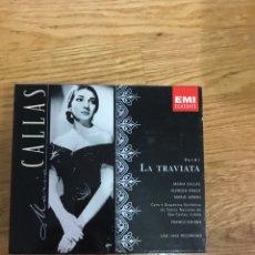CDs de Música: LA TRAVIATA VERDI MARIA CALLAS ALFREDO KRAUS. Lote 153148506