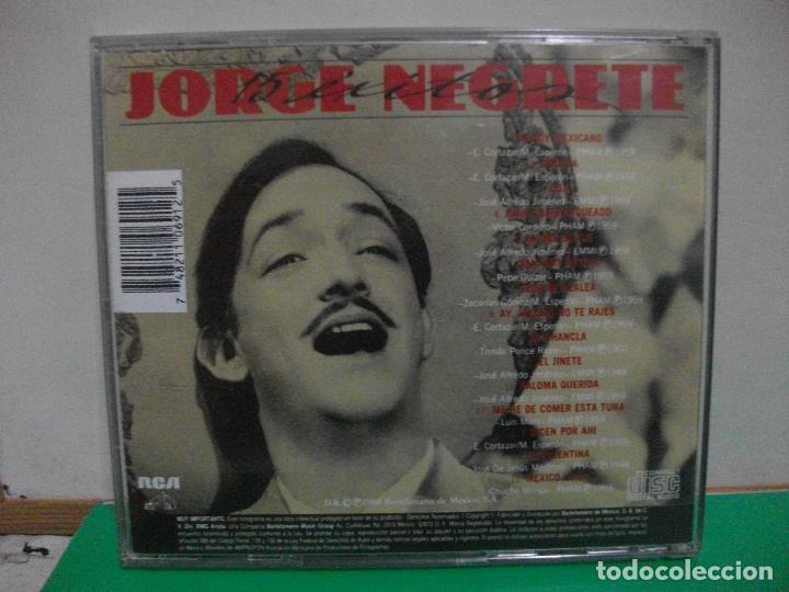 CDs de Música: JORGE NEGRETE 15 EXITOS CD ALBUM RCA NUEVO¡¡ PEPETO - Foto 2 - 153257550