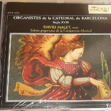 CDs de Música: ORGANISTES DE LA CATEDRAL DE BARCELONA / DAVID MALET / CD-DISCANT-2005 / PRECINTADO.. Lote 190413566