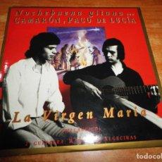 CDs de Música: CAMARON & PACO DE LUCIA LA VIRGEN MARIA NOCHEBUENA GITANA VILLANCICO CD SINGLE PROMO 1994 1 TEMA. Lote 153718462