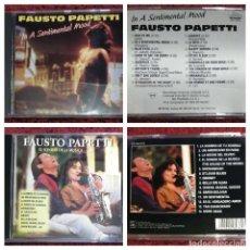 CDs de Música: LOTE 2 CD'S FAUSTO PAPETTI (IN A SENTIMENTAL MOOD - EL SONIDO DE LA MUSICA) * VER FOTOS. Lote 153723262
