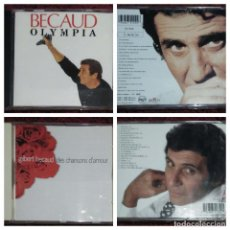 CDs de Música: LOTE 2 CD'S GILBERT BECAUD (OLYMPIA - DES CHANSONS D'AMOUR) * VER FOTOS. Lote 153725138