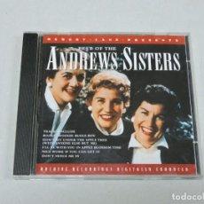 CDs de Música: BEST OF THE ANDREWS SISTERS CD. Lote 153925342