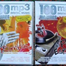CDs de Música: LOTE 100 MP3 100 MEJORES RUMBAS Y 100 MEJORES DEL POP ESPAÑOL. Lote 154009046