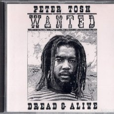 CDs de Música: PETER TOSH : WANTED DREAD & ALIVE - CD ORIGINAL USA 1981 EMI - ROLLING STONES RECORDS. Lote 154015378