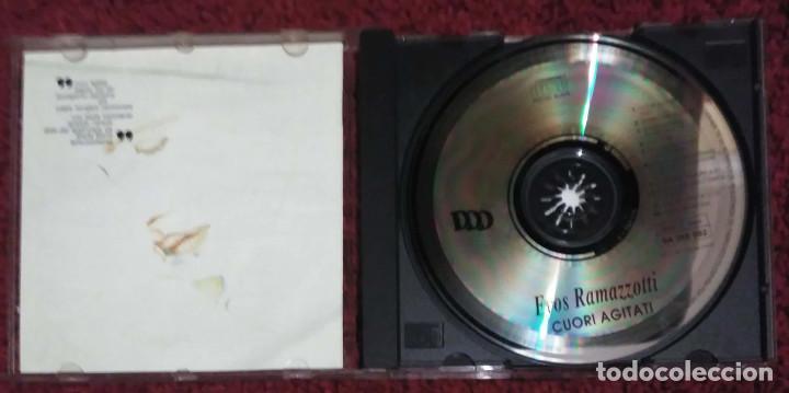 CDs de Música: EROS RAMAZZOTTI (CUORI AGITATI) CD 1992 EN ITALIANO - Foto 3 - 154015582