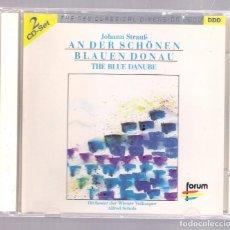 CDs de Música: JOHANN STRAUSS - AN DER SCHÖNEN BLAUEN DONAU (2CD FORUM CD 2/462 098-2). Lote 154029974