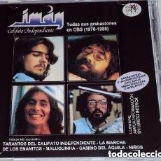 CDs de Música: IMAN CALIFATO INDEPENDIENTE - TODAS SUS GRABACIONES EN CBS *IMPECABLE COMO NUEVO*. Lote 154459462