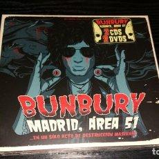 CDs de Música: 2 CD + 2 DVD BUNBURY MADRID AREA 51 PRECINTADO. Lote 154527974