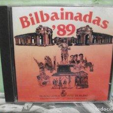 CDs de Música: CHIMBEROS / 5 BILBAINOS / INDARRA - BILBAINADAS '89 CD ALBUM PEPETO. Lote 154550858