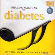 CDs de Música: HEALING MANTRAS FOR DIABETES. MANTRA MUSIC THERAPY SERIES. CD. TIMES MUSIC (NUEVO). Lote 154716594