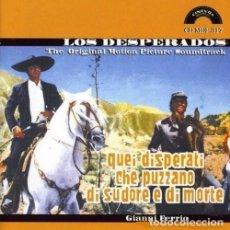 CDs de Música: QUEI DISPERATI CHE PUZZANO DI SUDORE E DI MORTE / GIANNI FERRIO CD BSO. Lote 154733622