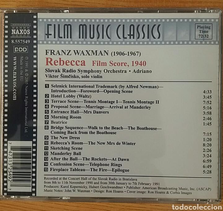 CDs de Música: Rebecca. B.S.O. Franz Waxman. NAXOS 8.557549. - Foto 2 - 154884744
