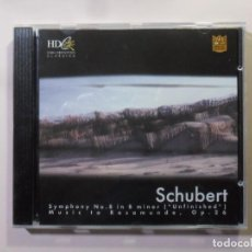 CDs de Música: CD-HD-INF 29-SCHUBERT-SYMPHONY #8 B MIN (UNFINISHED)/MUSIC TO ROS... OP 26-CLASSICS SPECIAL EDITION. Lote 154895682