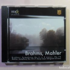 CDs de Música: CD - HD - INF 59 - BRAHMS, MAHLER - CLASSICS SPECIAL EDITION. Lote 154908414
