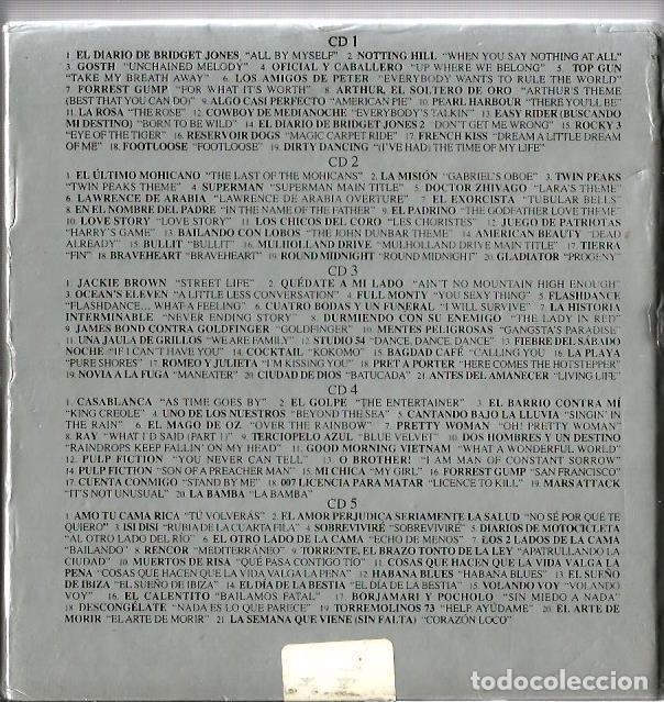 CDs de Música: CAJA DE 5 CDS LAS 101 CANCIONES DEL CINE - Foto 3 - 154943186