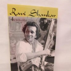 CDs de Música: RAVI SHANKAR. PRESTIGIOUS RECORDINGS. 4 CD SET. COMPACT DISC. SARAGAMA INDIA. Lote 155093902