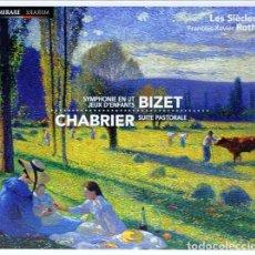 CDs de Música: BIZET, CHABRIER - SYMPHONIE EN UT JEUX D'ENFANTS, SUITE PASTORALE (CD) LES SIÈCLES. Lote 155139478