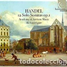CDs de Música: GEORGE FRIDERIC HANDEL - 12 SOLO SONATAS OP.1 (2CD) ACADEMY OF ANCIENT MUSIC, RICHARD EGARR. Lote 155139810