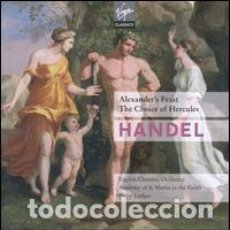 CDs de Música: GEORGE FRIDERIC HANDEL - ALEXANDER'S FEAST, THE CHOICE OF HERCULES (2CD) ENGLISH CHAMBER OR. Lote 155140414
