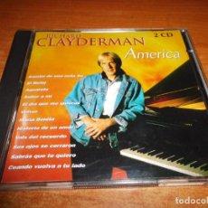 CD de Música: RICHARD CLAYDERMAN AMERICA DOBLE CD DEL AÑO 1998 ESPAÑA CONTIENE 35 TEMAS 2 CD RARO. Lote 155298334