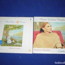 CDs de Música: LOTE 2 CD SINGLE PROMO MARIA DOLORES PRADERA - ESTUCHE CARTON. Lote 155318490