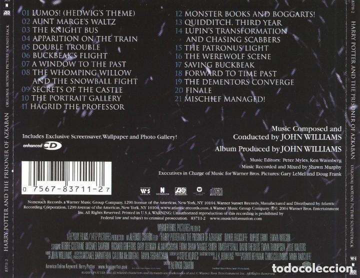 CDs de Música: HARRY POTTER AND THE PRISONER OF AZKABAN / John Williams CD BSO - Foto 2 - 155320754