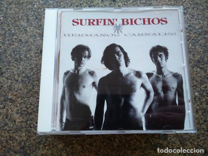 CD -- SURFIN' BICHOS – HERMANOS CARNALES -- 15 TEMAS -- 1992 -- (Música - CD's Rock)
