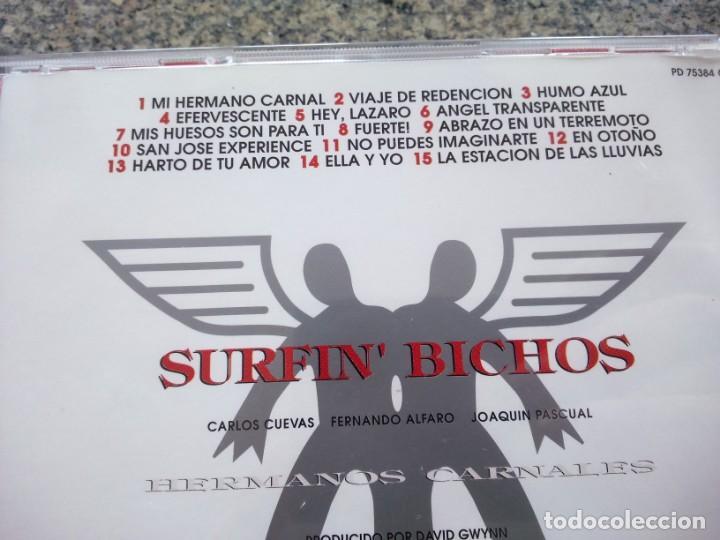 CDs de Música: CD -- Surfin' Bichos – Hermanos Carnales -- 15 TEMAS -- 1992 -- - Foto 2 - 155411002