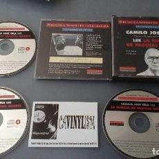 CDs de Música: CAMILO JOSÉ CELA LEE LA FAMILIA DE PASCUAL DUARTE - 3 CD'S . Lote 155469154