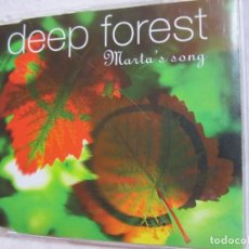 CDs de Música: DEEP FOREST- MAXI-CD- TITULO MARTA ' S SONG- 3 TEMAS- ORIGINAL 95-NUEVO-ABIERTO. Lote 155503210