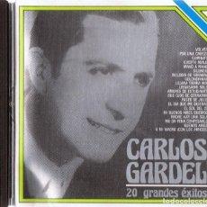 CDs de Música: CARLOS GARDEL 20 GRANDES ÉXITOS (CD). Lote 155611274