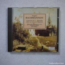 CDs de Música: SERGUEI RACHMANINOV - CONCIERTO N.º 2. RAPSODIA SOBRE UN TEMA DE PAGANINI - CD 1989 . Lote 155703402