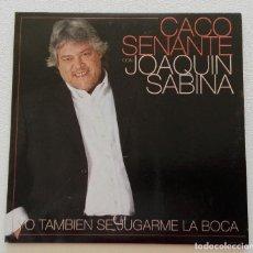 CDs de Música: JOAQUÍN SABINA Y CACO SENANTE 'YO TAMBIÉN SE JUGARME LA BOCA' CD SINGLE PROMO 2002 MIL MANERAS EPK. Lote 155712998