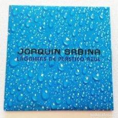 CDs de Música: JOAQUÍN SABINA 'LÁGRIMAS DE PLÁSTICO AZUL' CD SINGLE PROMO 2002 DÍMELO EN LA CALLE. Lote 155713094
