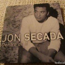 CDs de Música: JON SECADA- MAXI-CD- TITULO DENTRO DE TI- CON 2 TEMAS-PROMO-2000- NUEVO. Lote 155715918